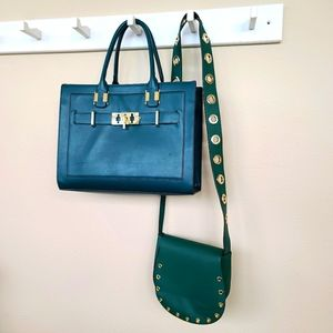 JustFab Money Green matching purses